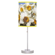 USA, Oregon, Willamette Valley. Daffodils grow Table Lamp