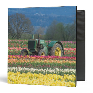 USA, Oregon, Woodburn, Wooden Shoe Tulip 2 3 Ring Binder