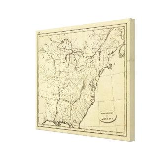 USA outline Canvas Print