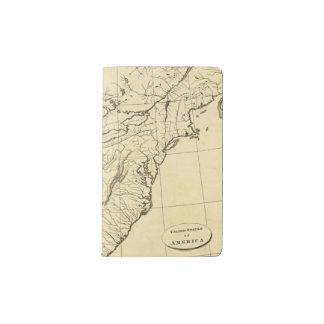USA outline Pocket Moleskine Notebook Cover With Notebook