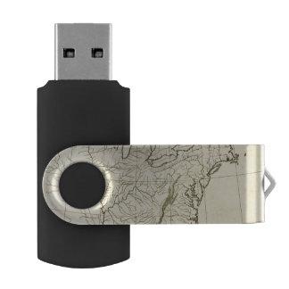 USA outline Swivel USB 2.0 Flash Drive