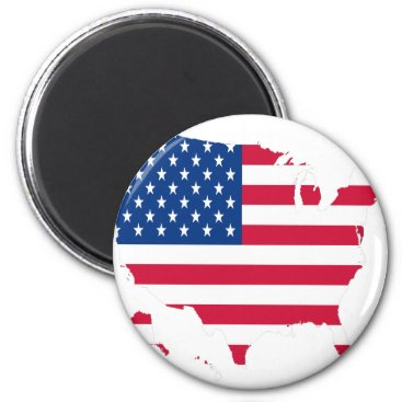 USA Outline with flag Magnet