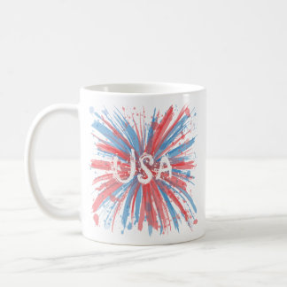 USA Paint Splatter Double-Image Mug