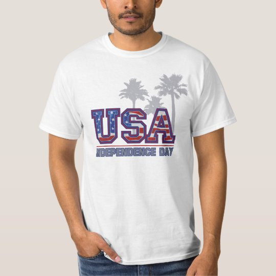 USA Palm Independence Day Men's T-Shirts