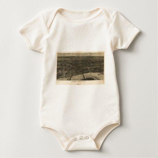 USA Panoramic Maps Baby Bodysuit