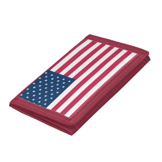 USA patriot: A truly patriotic gift: American Flag Tri-fold Wallets
