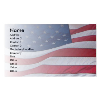 USA Patriot Double-Sided Standard Business Cards (Pack Of 100)