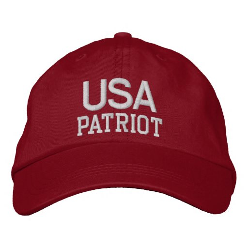 USA Patriot Embroidered Red/White Hat