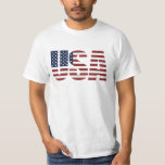 """USA Patriotic American Flag US 4th of July America T-Shirt<br><div class=""""desc"""">USA Patriotic American Flag US 4th of July America Shirts. USA Letters Make The American Flag - A great design for those who love the USA. A very patriotic design great for any American patriotic event such as: the 4th of July - Independence day, Armed Forces Day, Memorial Day, President&#39;s...</div>"""