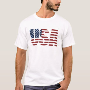 a7cf6b078e USA Patriotic American Flag US 4th of July America T-Shirt