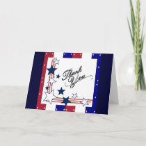 USA Patriotic AmericaThank You Card