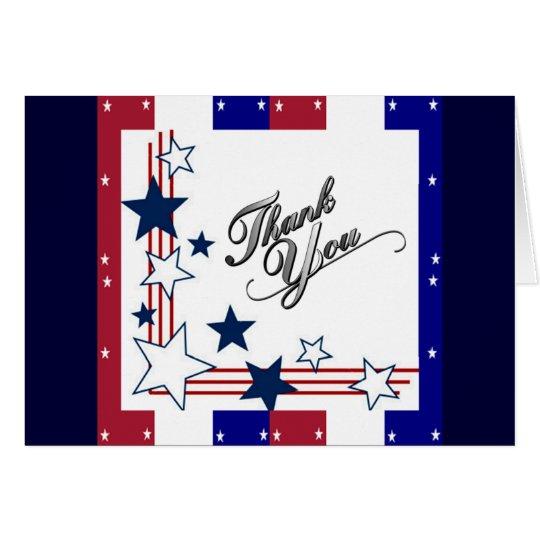 USA Patriotic AmericaThank You Card