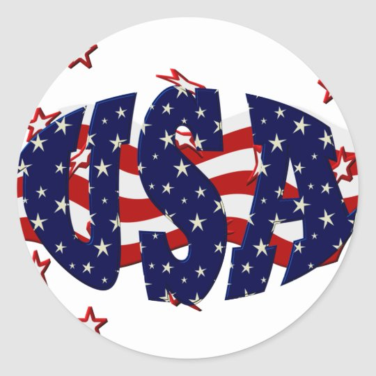USA-Patriotic Classic Round Sticker