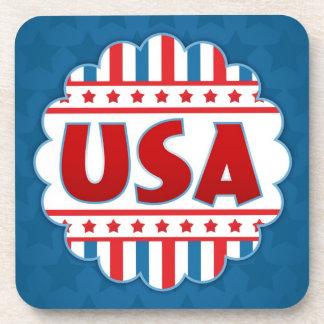 USA Patriotic Cork Coaster