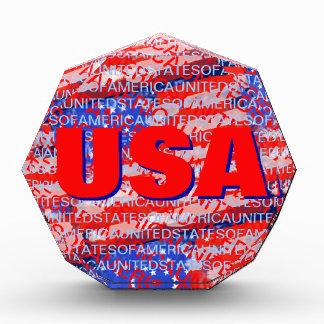 USA patriotic country flag Award
