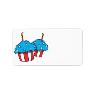 USA patriotic cupcakes Personalized Address Label