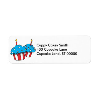 USA patriotic cupcakes Label