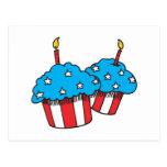 USA patriotic cupcakes Postcard
