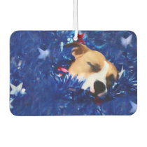 USA Patriotic Dog American Pit Bull Terrier Air Freshener