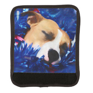 USA Patriotic Dog American Pit Bull Terrier Luggage Handle Wrap