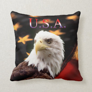 USA Patriotic Eagle pillow