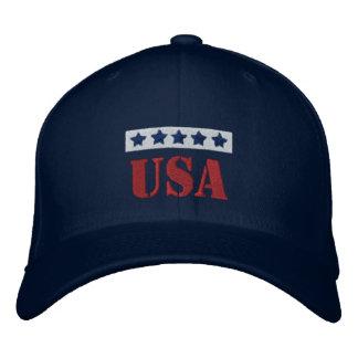 USA Patriotic Embroidered Baseball Cap