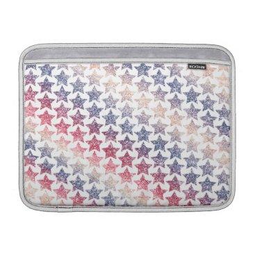 USA Themed USA Patriotic Faux Glitter Stars MacBook Sleeve
