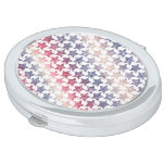 USA Patriotic Faux Glitter Stars Mirror For Makeup
