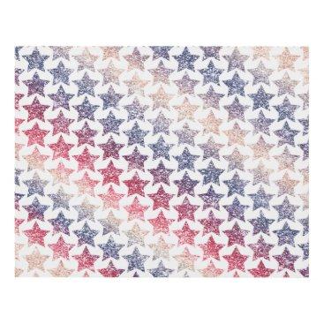 USA Themed USA Patriotic Faux Glitter Stars Panel Wall Art