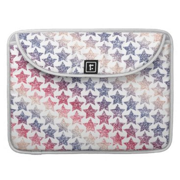 USA Themed USA Patriotic Faux Glitter Stars Sleeve For MacBook Pro