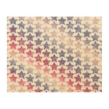 USA Themed USA Patriotic Faux Glitter Stars Wood Wall Art