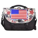 USA Patriotic Flag Primitive Stars Colorful Design Bags For Laptop
