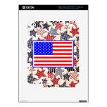 USA Patriotic Flag Primitive Stars Colorful Design Skins For iPad 3