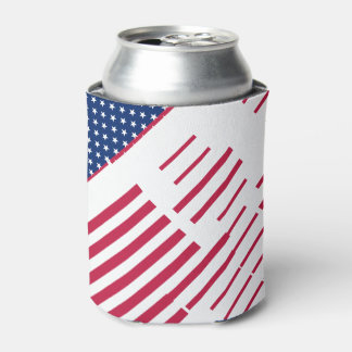 USA Patriotic Flag Stripes Stars Cooler Koozies Can Cooler