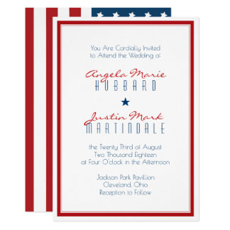 July 4th Wedding Invitations & Announcements Zazzle