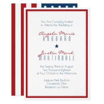 USA Themed USA Patriotic Flag Wedding 2 Card