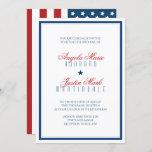 USA Patriotic Flag Wedding Invitation