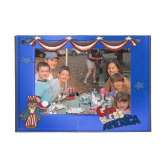 USA Patriotic Frame Custom Photo God Bless America Covers For iPad Mini
