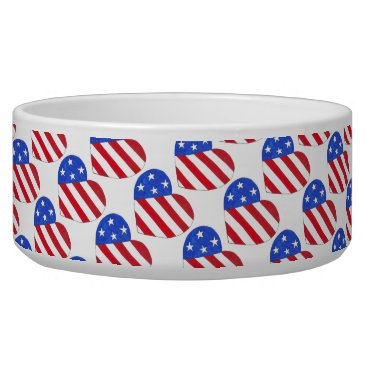 USA Themed USA Patriotic Love Heart Red White Blue Flag Bowl