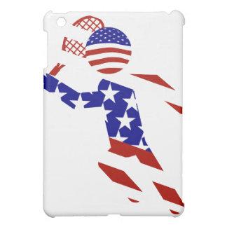 USA Patriotic Men's Tennis Player iPad Mini Covers
