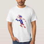 USA Patriotic Men's Tennis Player Tee Shirt