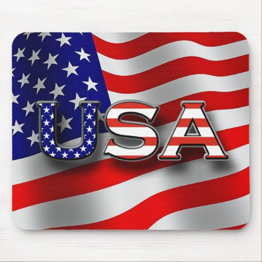 USA Patriotic Mouse Pad with 3 - D Lettering
