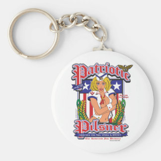 USA/Patriotic Pilsner Basic Round Button Keychain