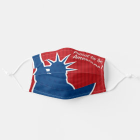 USA Patriotic Proud American NYC Statue of Liberty Cloth Face Mask