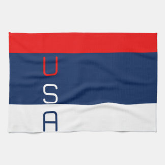 USA Patriotic Red White and Blue Kitchen Towel