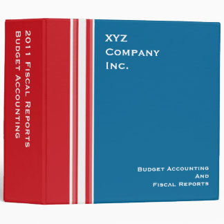 USA Patriotic Red White Stripes with blue 3 Ring Binder