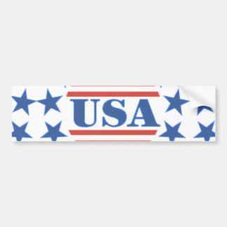 USA Patriotic Stars and Stripes Bumper Sticker