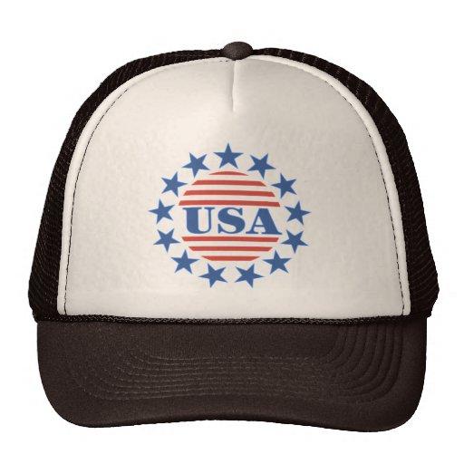 USA Patriotic Stars and Stripes Hat
