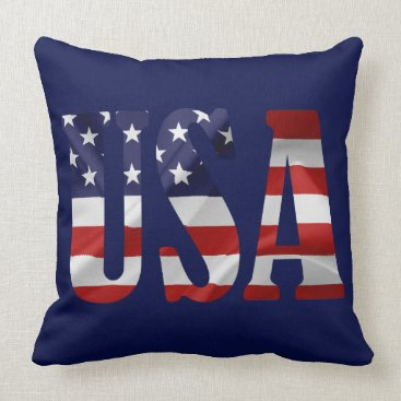 USA Themed USA Patriotic Throw Pillow