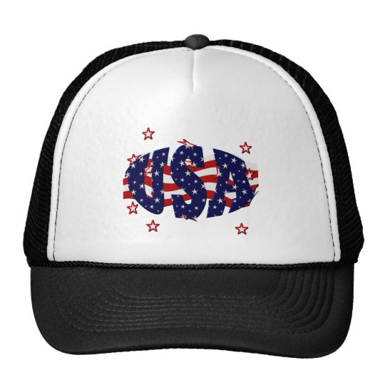 USA-Patriotic Trucker Hat